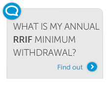 What is my annual RRIF minimum withdrawal?